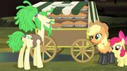 Pony in dreadlocks taking a pie S4E17