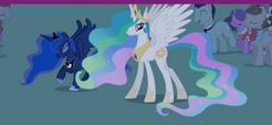 Princess Luna and Princess Celestia at Royal Wedding S2E26
