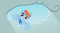 Rainbow Dash doing favours S1E3