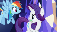"Rarity ""all her Rainbow Dash trophies?"" S5E3"