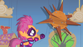 Scootaloo reaching out to the sun S1E18.png