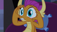 Smolder making her eyes wide S8E25