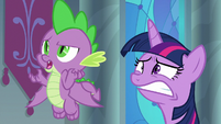 "Spike curious ""princesses can retire?"" S9E1"
