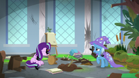 Starlight and Trixie in destroyed classroom S9E20