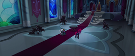 Tempest and Grubber in the throne room MLPTM