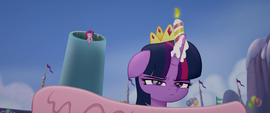 Twilight with a lit candle on her head MLPTM