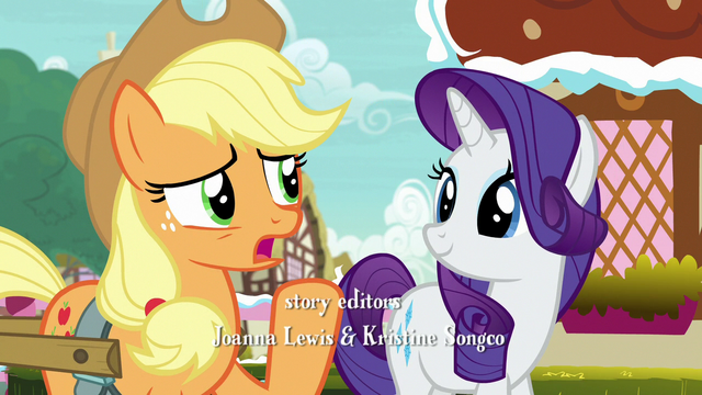 "File:Applejack ""I had to say it again because"" S7E9.png"