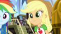 Applejack looking expectantly at Fluttershy CYOE2c.png