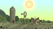 Bright sun over the rock farm S1E23