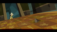Daring Do tests floor trap with rock S2E16