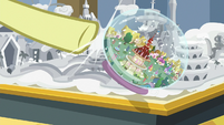 Flam knocks over Ponyville snow globe S8E16
