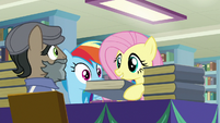 Fluttershy asks Martingale to sign her book S9E21