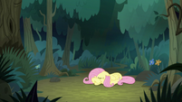 Fluttershy crying by herself in the forest S8E13