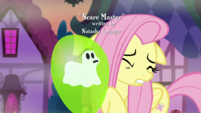 Fluttershy wincing at a ghost balloon S5E21
