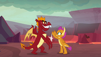 Garble and Smolder high-fiving S9E9
