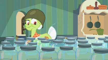 Granny Smith inspecting jars 1 S2E12