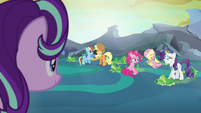 Main ponies freed from their cocoon cages S6E26