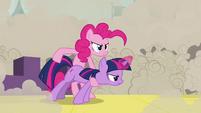 Pinkie Pie fires Twilight 1 S2E26
