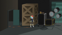 Rainbow Dash in the movie studio storage area EGS2