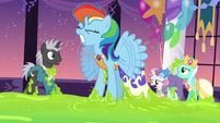 Rainbow Dash stuck in the slime S5E7