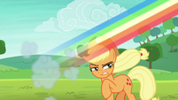 Rainbow speeds away from Applejack S8E9