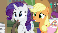Rarity and Applejack asking for help S5E16