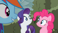 Rarity and Pinkie smiles S2E01