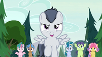 Rumble sings as the campers follow him S7E21