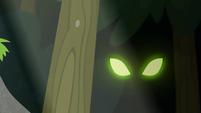 Sinister green eyes in the forest EG4