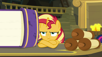 Sunset Shimmer tired of researching EGFF