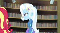 Sunset and Trixie walk away from Micro Chips EGFF