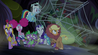 Swamp monster gets stuck in spider web S5E21