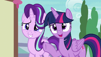"Twilight Sparkle ""the bear is a changeling"" S7E15"