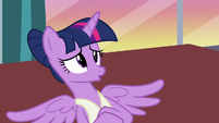 Twilight Sparkle gives a prolonged -no- S7E10