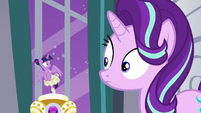 Twilight Sparkle shocked by Starlight's sentence S7E10