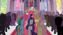 Victory ceremony background ponies S2E02
