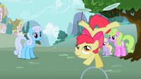 Apple Bloom riding hoop upside down S2E06