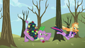 Applejack and Twilight tie up tree instead of Spike S2E10.png