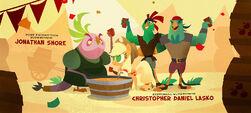 Applejack sharing cider with Lix Spittle, Boyle and Mullet MLPTM