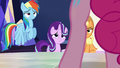 Dash, AJ, and Starlight look at Pinkie S6E1.png
