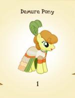 Demure Pony MLP Gameloft