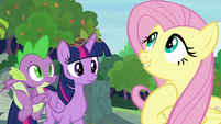 Fluttershy fantasizing about the coronation S9E26