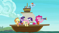 Mane Six on a small sailboat S7E2.png