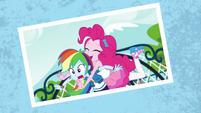 Photo of Pinkie Pie tackling Rainbow Dash EGFF