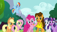 Pinkie Pie and Cheese singing together S4E12