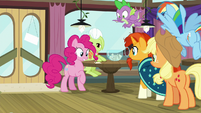 Pinkie Pie signing up for Trivia Trot S9E16