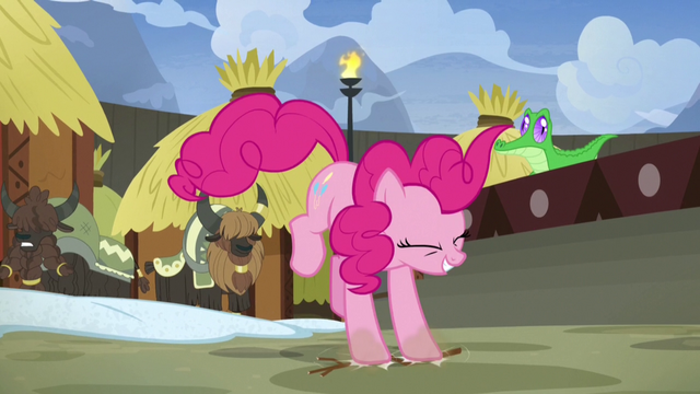 File:Pinkie Pie stomping alongside the yaks S7E11.png