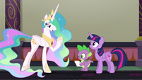 Princess Celestia explaining the EEA S8E1