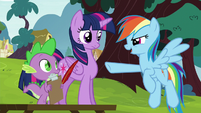 "Rainbow Dash ""it chased after us!"" S5E22"