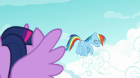 Rainbow Dash sighing with shame S8E20